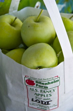Lodi apples, for of the season, are on sale at Allenholm Farm in South Hero. Photo by Dirk Van Susteren