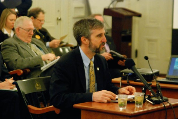 David Mears, commissioner of the Department of Environmental Conservation, testified before lawmakers on Wednesday on the state's plan to restore Lake Champlain's water quality. Photo by John Herrick/VTDigger