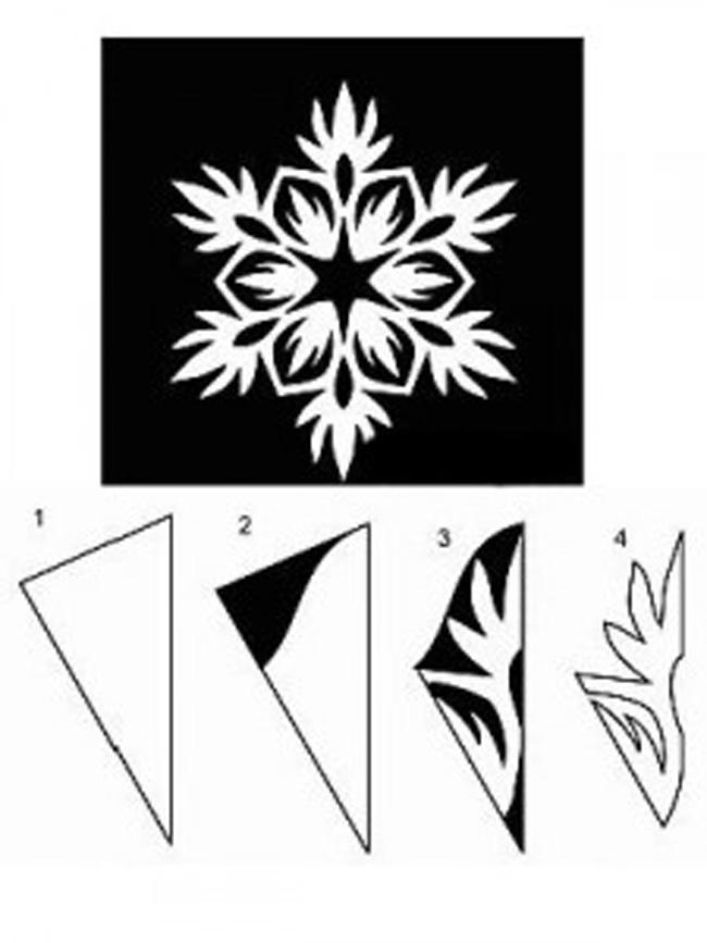 Чем вырезать снежинку из бумаги схемы