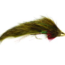 """""""The Bunny Mudler is a white streamer imitation that works particularly well. Smaller fish don't have much pigmentation and when a fish dies it turns white and sinks to the bottom. When the water level comes up in the spring it pushes that stuff around and some fish might be feeding on dead fish, others will be feeding on live fish. White is particularly good color for the early season."""""""