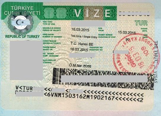 Visa Thổ Nhĩ Kỳ