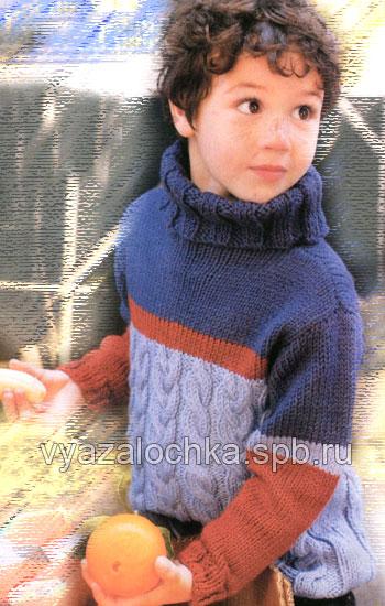свитер для мальчика вязание спицами