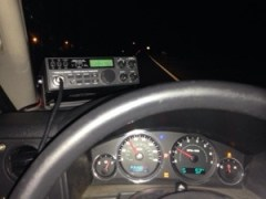 HTX-100 on the Jeep's dash