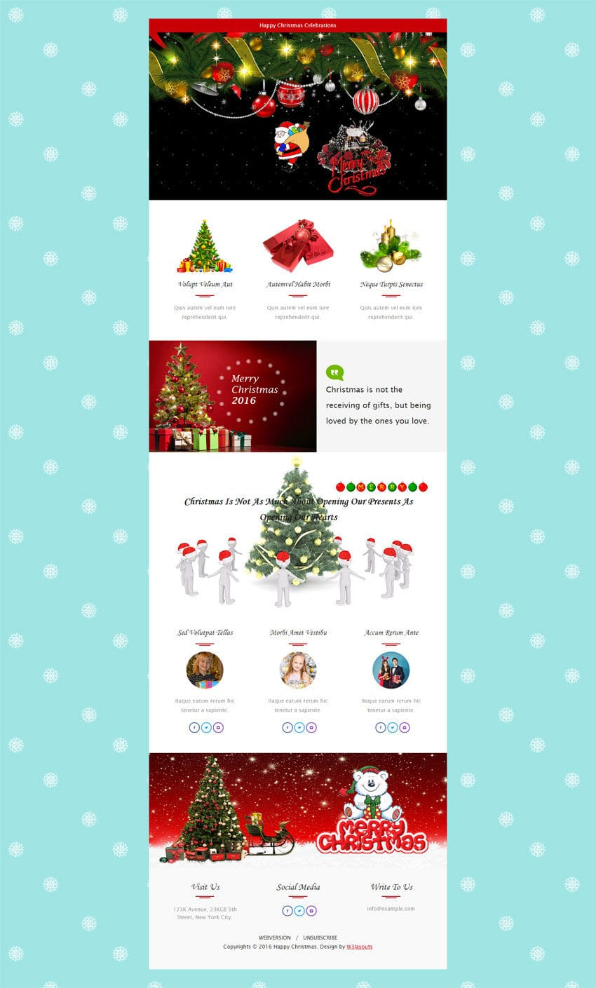 Fullsize Of Christmas Newsletter Template