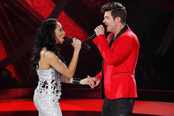 Robin Thicke and Olivia Chisholm