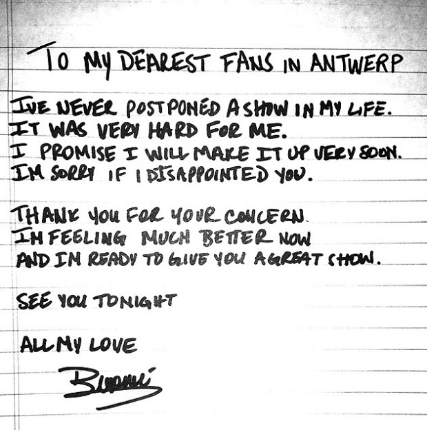 Beyonce letter