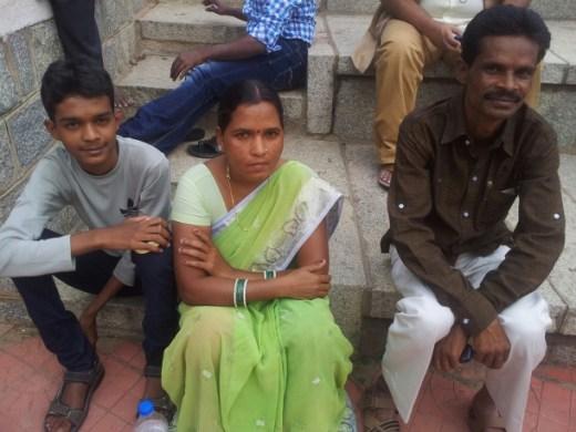 Meera and Kaladas Deheriya, and their sone Geet Kumar, during Horata. (WNV/Pushpa Achanta)