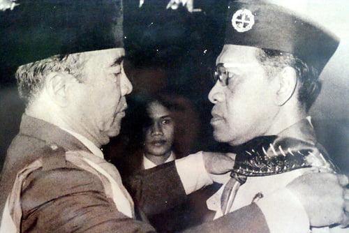 Soekarno dan Sultan Hamengku Buwono IX Foto Foto Kota Jogja Tempo Doeloe