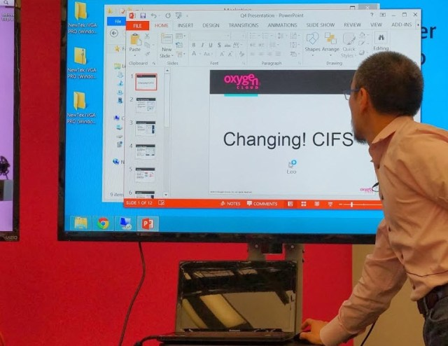 Writing changes to a file during a live demo