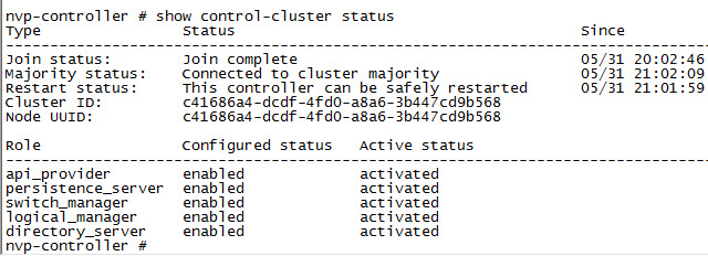 Details on the controller cluster