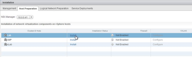 Select a cluster and choose install