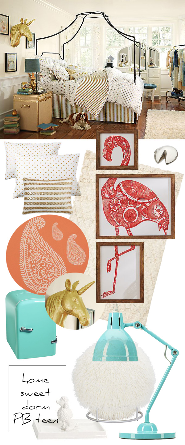 dorm room ideas with pottery barn teen