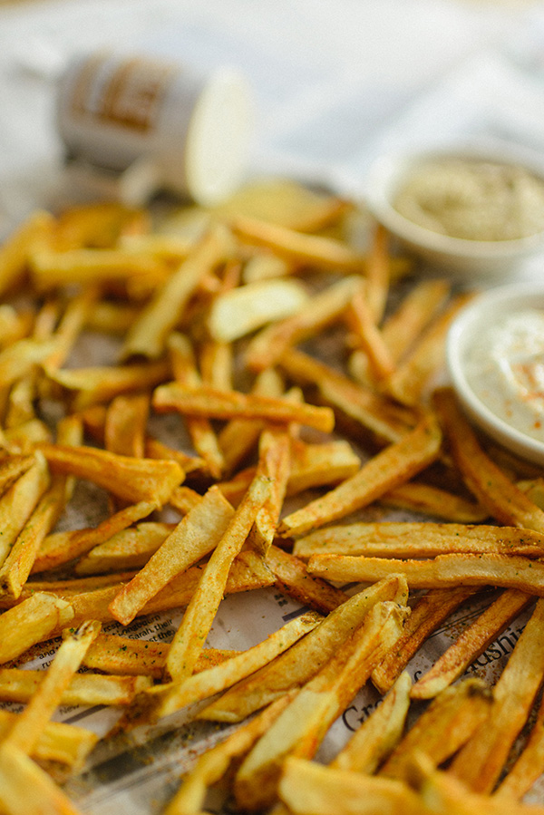 Homemade French Fries & Garlic Aioli Dipping Sauce, Waiting On Martha