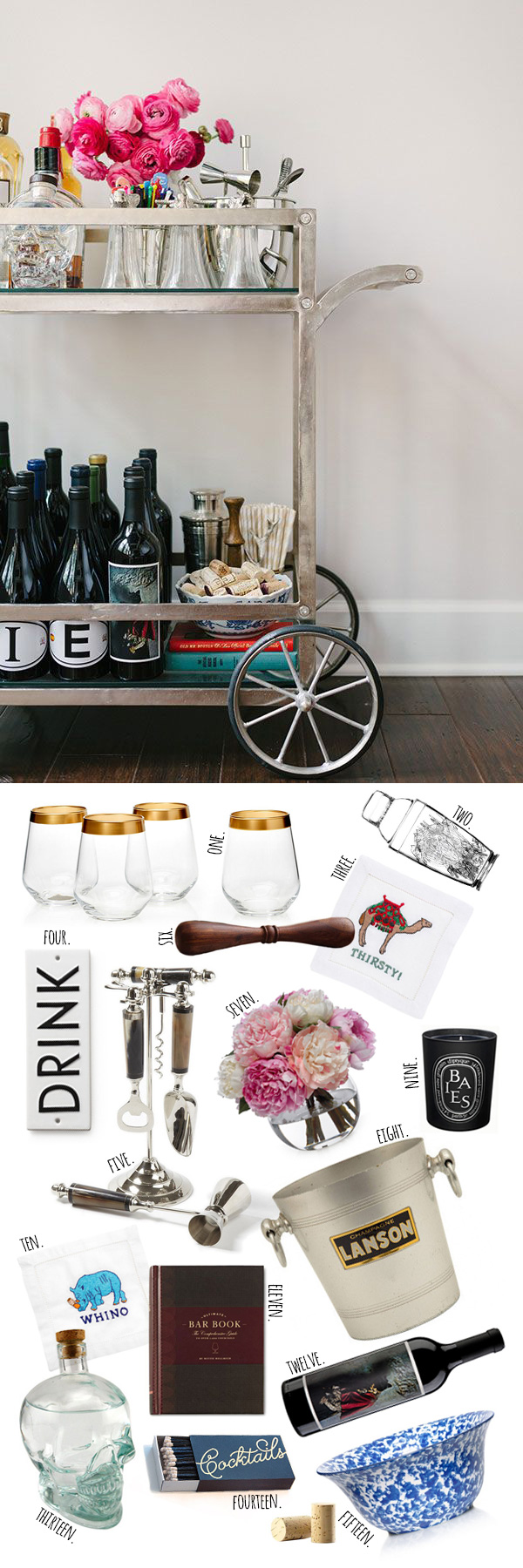 Top 15 Bar Cart Essentials