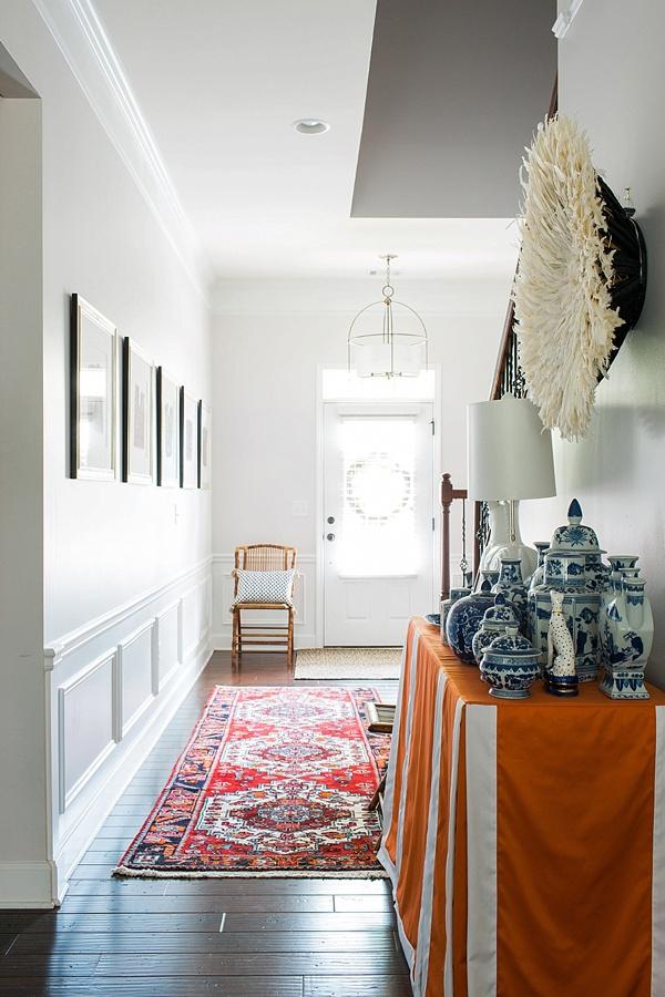 Entryway essentials: turkish rug, ginger jars and juju hat   Waiting on Martha