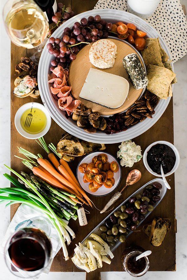 The perfect cheese platter via Waiting on Martha