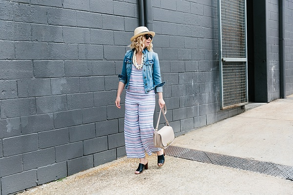 Striped linen outfit for summer, Waiting on Martha