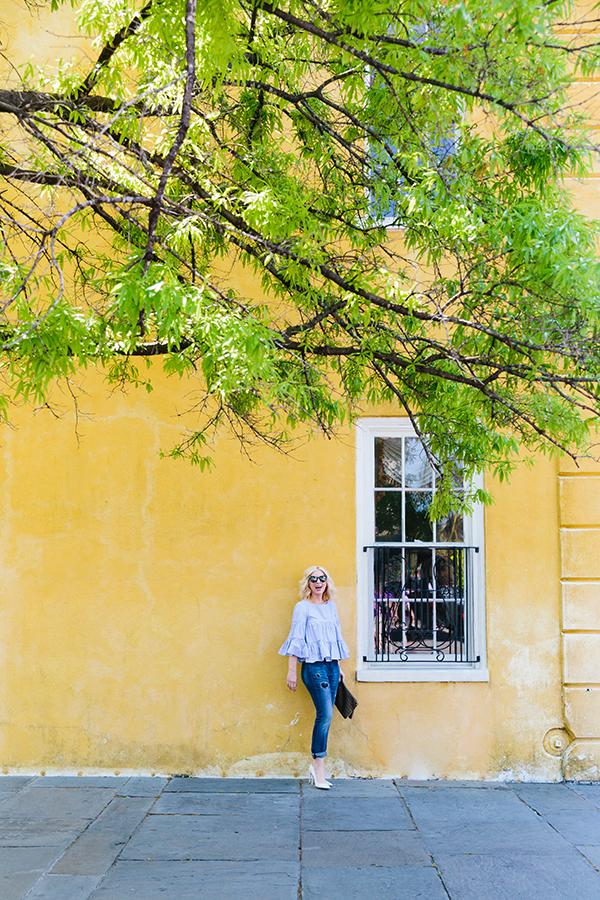 Yellow wall in Charleston