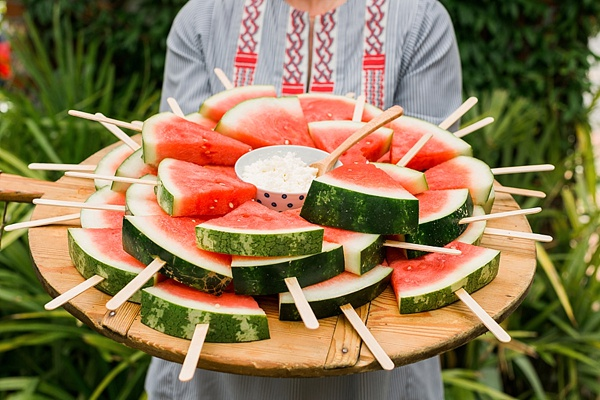 Watermelon on popsicle sticks, @waitingonmartha