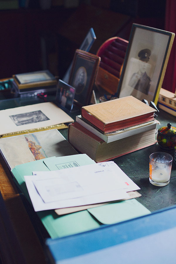 Traditional desk details spotted at @farrowball via @waitingonmartha
