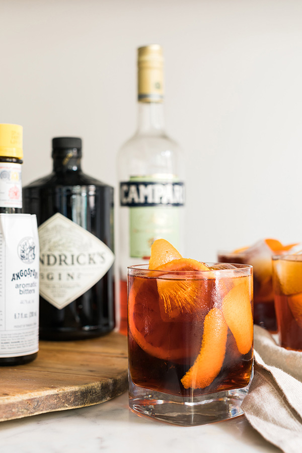 Negroni cocktail recipe by @waitingonmartha