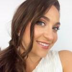 Pretending to be a bride for a makeup tutorial