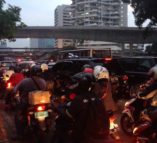 インドネシアのラッシュアワー