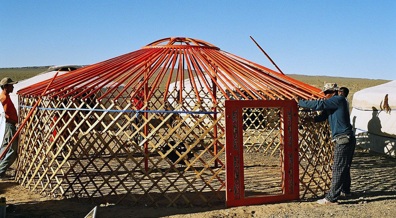 Yurt construction greenhouse