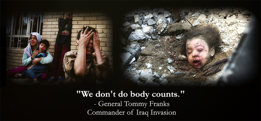 Tommy Franks body counts