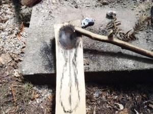 3. Kohle ausschaben