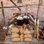 Toast am Feuer