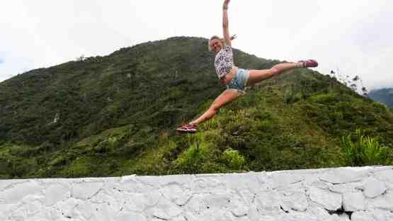 Hiking in Baños, Ecuador