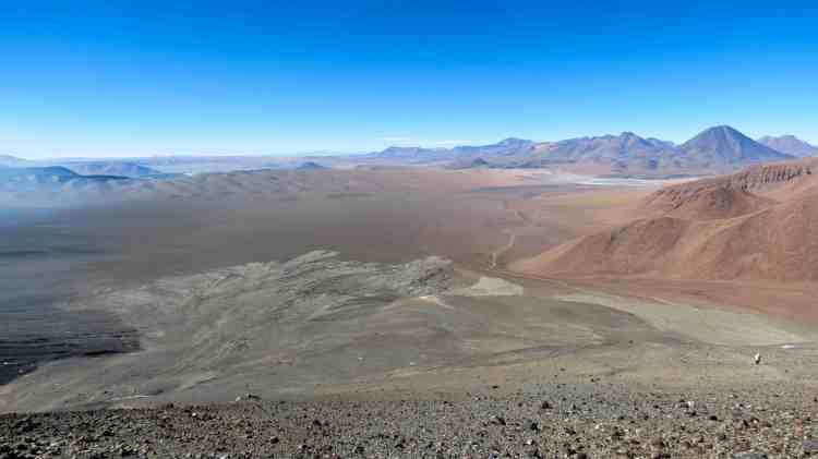 View of the Altiplano and Atacama desert