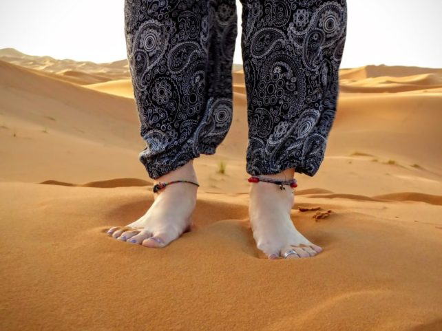 sand toes, morocco