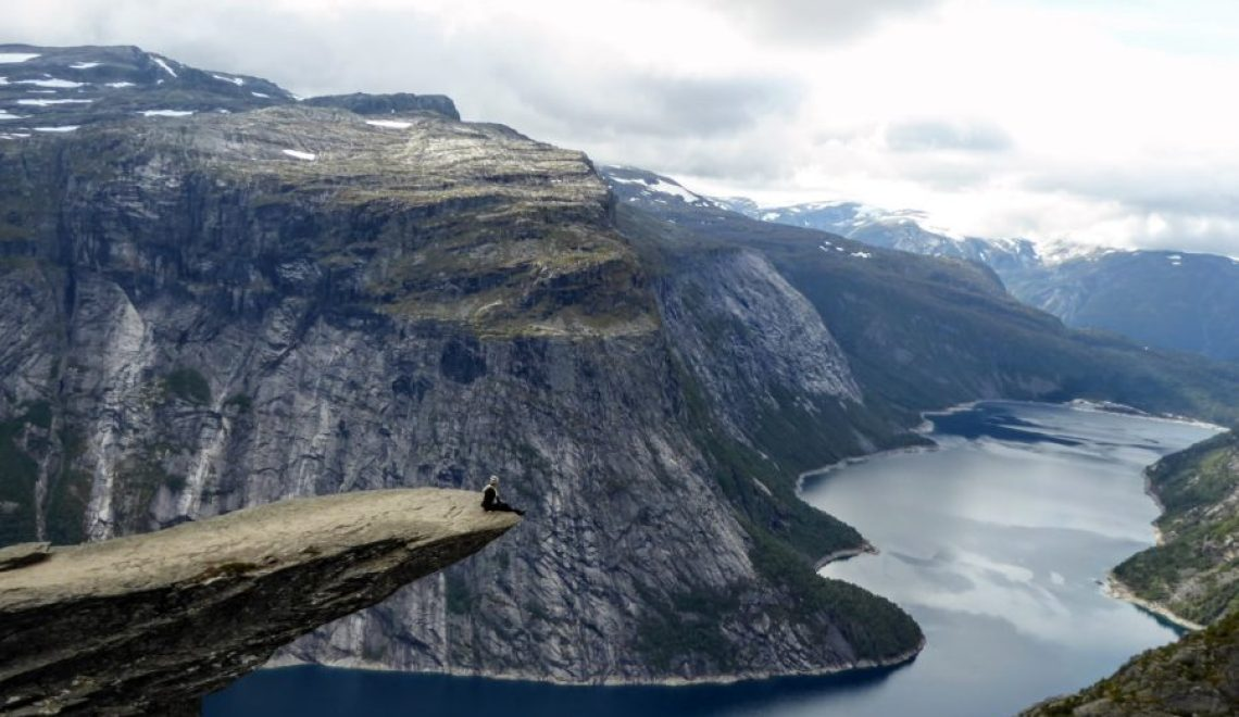 Sitting Trolltunga Norway