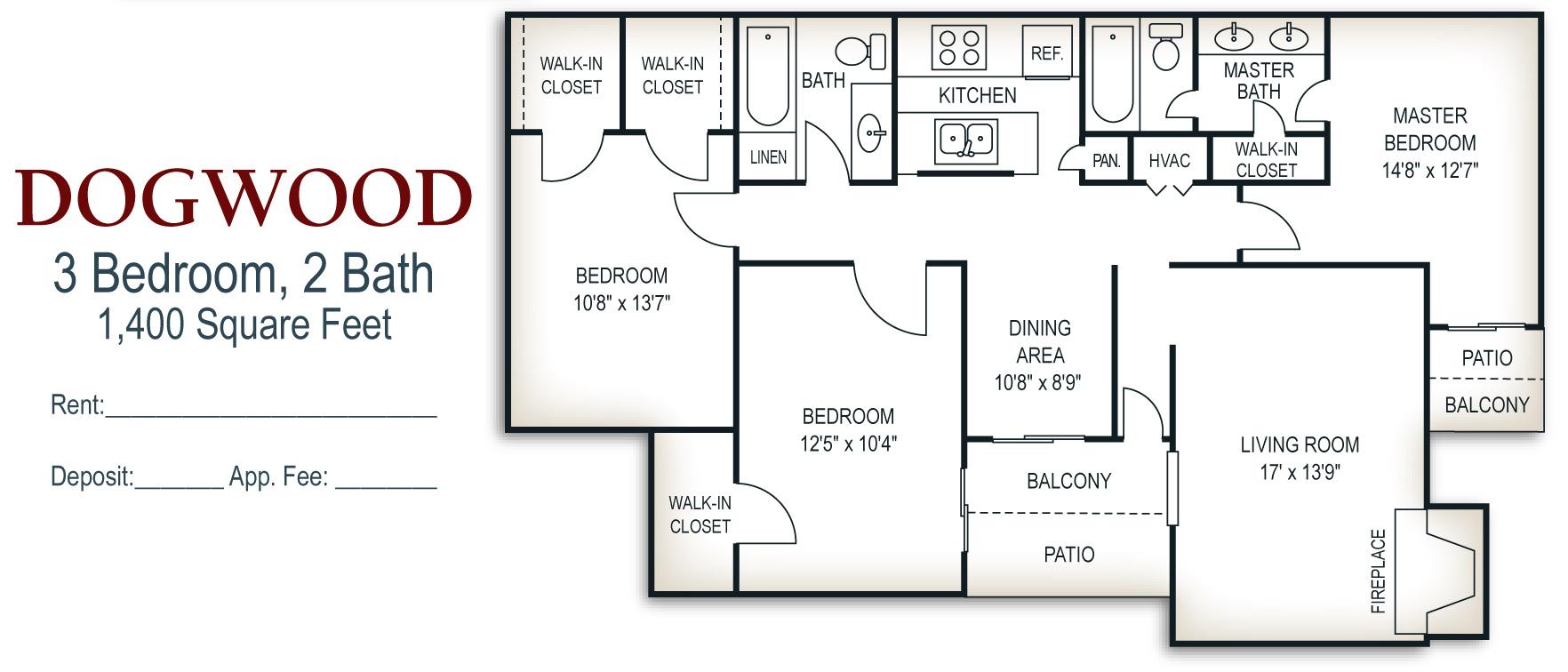 Knoxville Rental Floor Plans Walker Springs Apartments