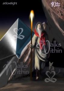 Hermit tarot card Walks Within ArtLoveLight