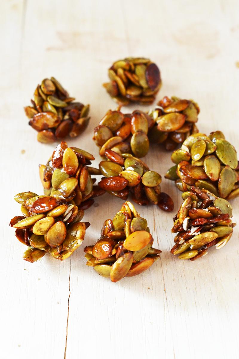 Vanilla Pumpkin Seed Clusters - A deliciously seasonal and healthy snack!