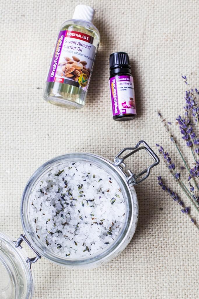 ... Supplements Review - Jasmine & Lavender Salt Scrub with Almond Oil