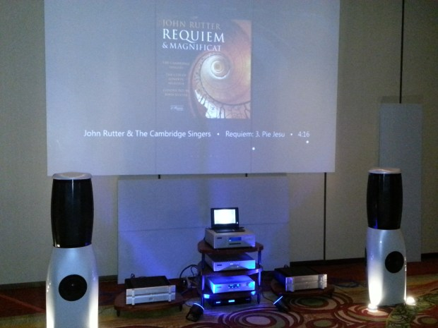 Muraudio's omni-directional electrostatic/hybrid speakers