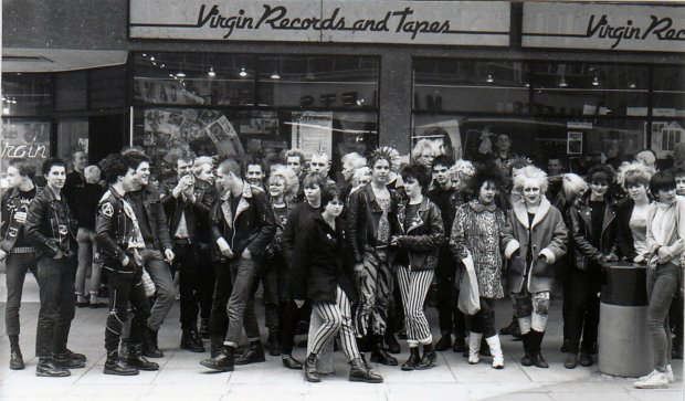 """Punks in Bristol, 1980"", part of a new exhibit collection. Photo credit: virgin.com"