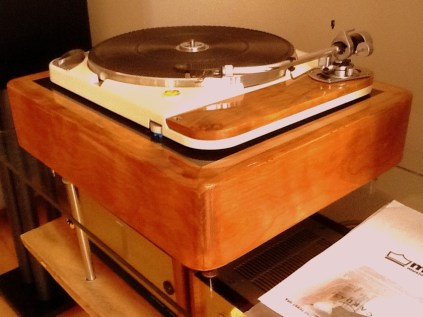 Thorens TD124, custom build by Hans Lazuardi.