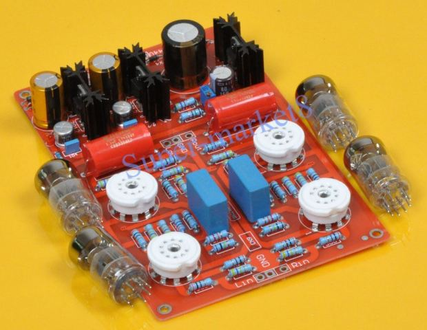 "From China: ""6N3 4-pcs Audio Tube Pre-Amplifier Preamp Board Assembled Kit DIY"" ($40 plus shipping, via eBay)"