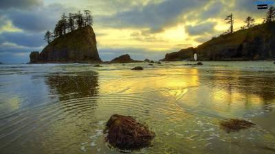 Beautiful beach evening wallpaper 1600×900 | Wallpaper 29 HD
