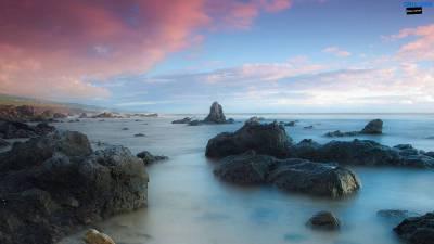 Pink clouds beach wallpaper 1600×900 | Wallpaper 29 HD