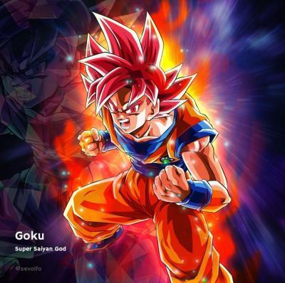 Goku Super Saiyan God Wallpapers - Wallpaper Cave