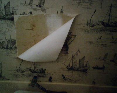 Wallpaper Repair Behind a Toilet | Wallpaperlady's Blog