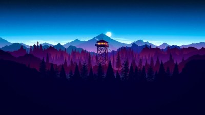Widescreen Wallpaper, 4k, Digital, Firewatch, Night, Widescreen, Digital, #170