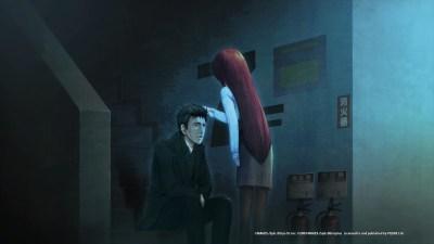 Kurisu Makise pociecza Rintaro Okabe Wallpaper from Steins;Gate 0 - gamepressure.com