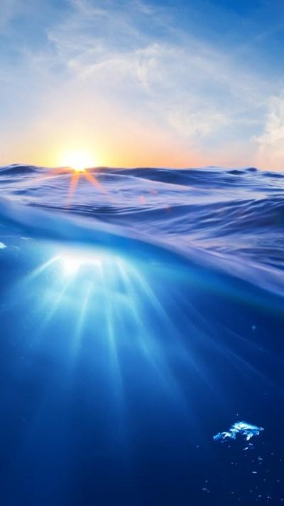 Wallpaper Ocean, 5k, 4k wallpaper, 8k, Sea, nature, underwater, water, sun, sky, blue, rays, OS #386